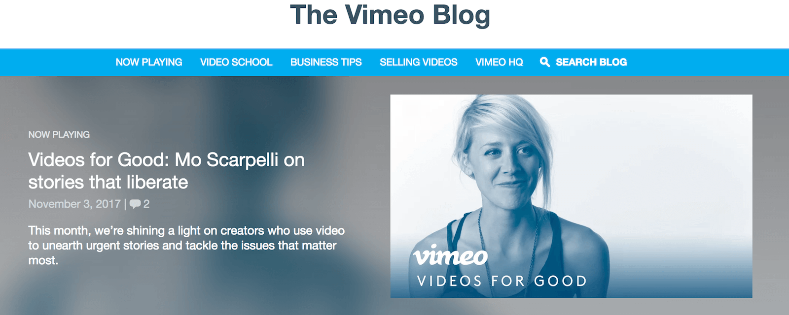 Video adult blog info