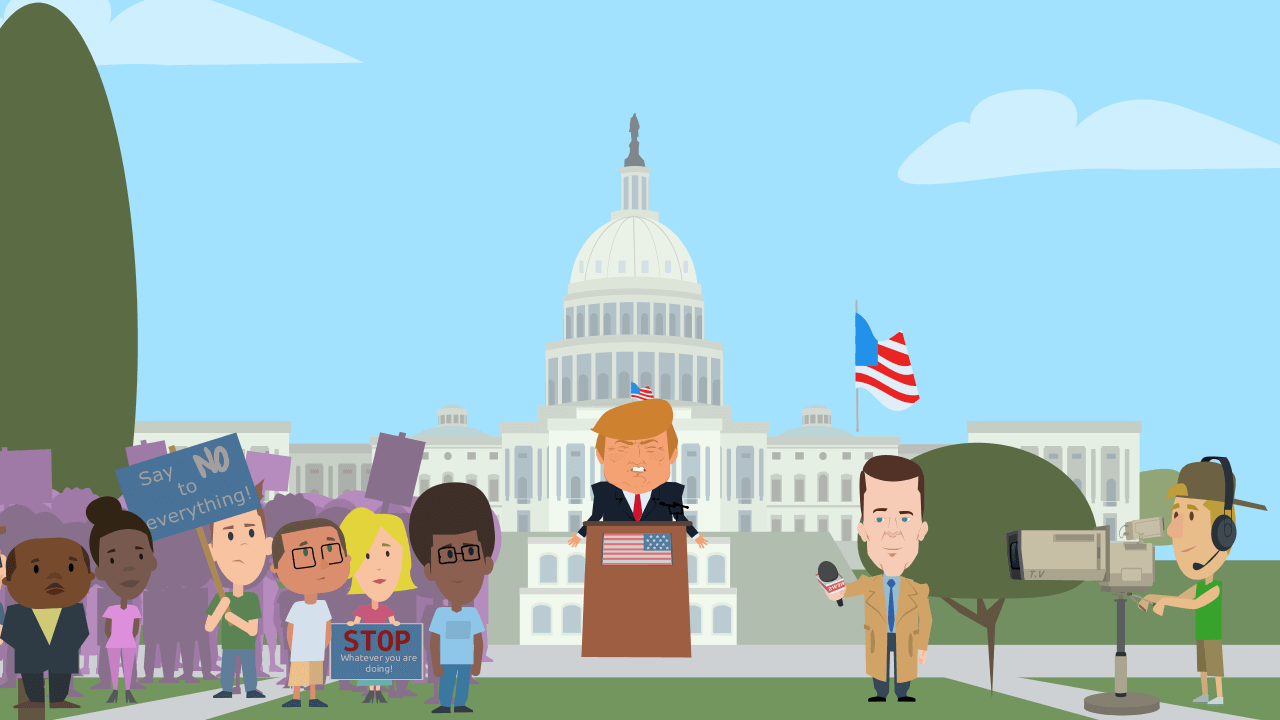 Political cartoon maker -- Animatron Studio