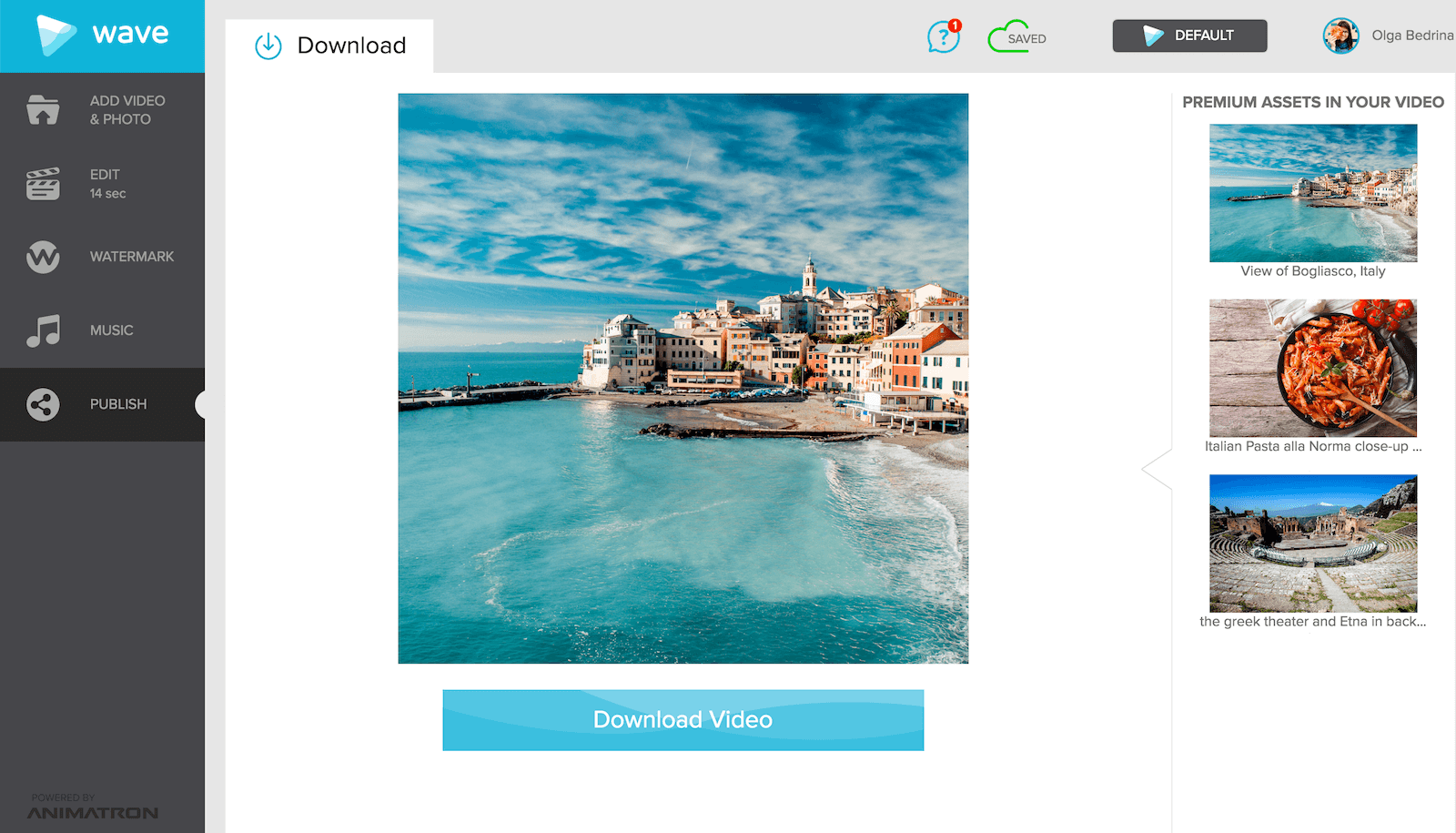 Make videos that are perfectly optimized for Instagram with Wave.video, online video maker