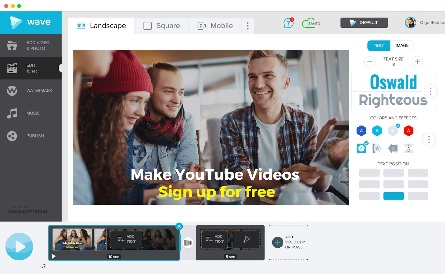 Learn how to make YouTube videos easily with Wave.video