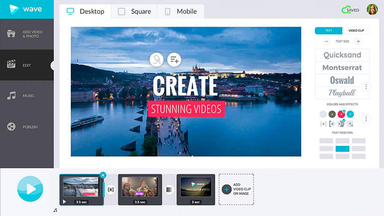 Create stunning videos easily with Wave.video