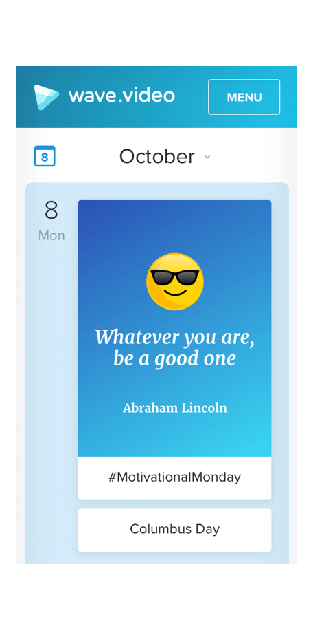 Inspirational Social Calendar