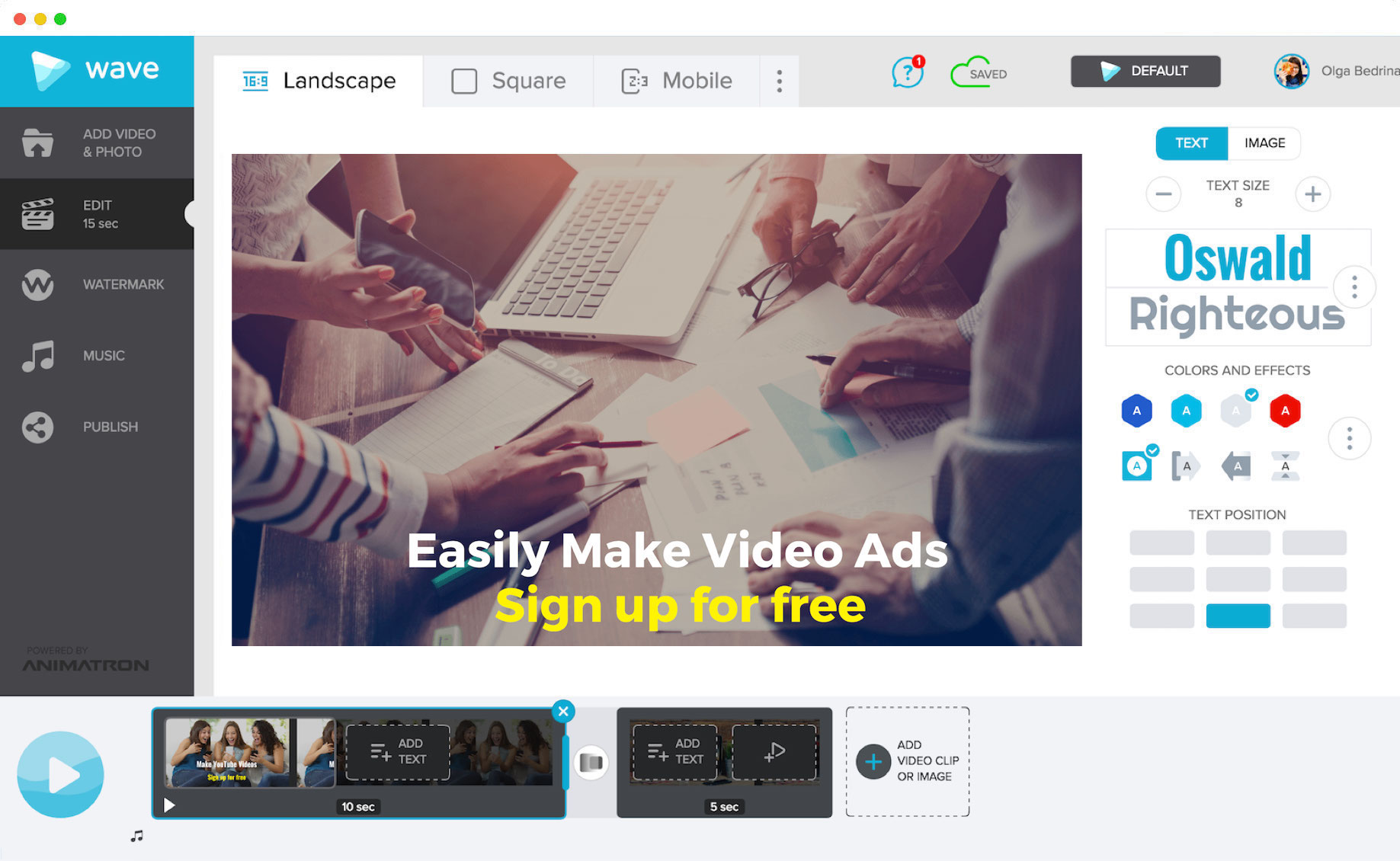 Learn how to make video ads easily with Wave.video, an online video maker