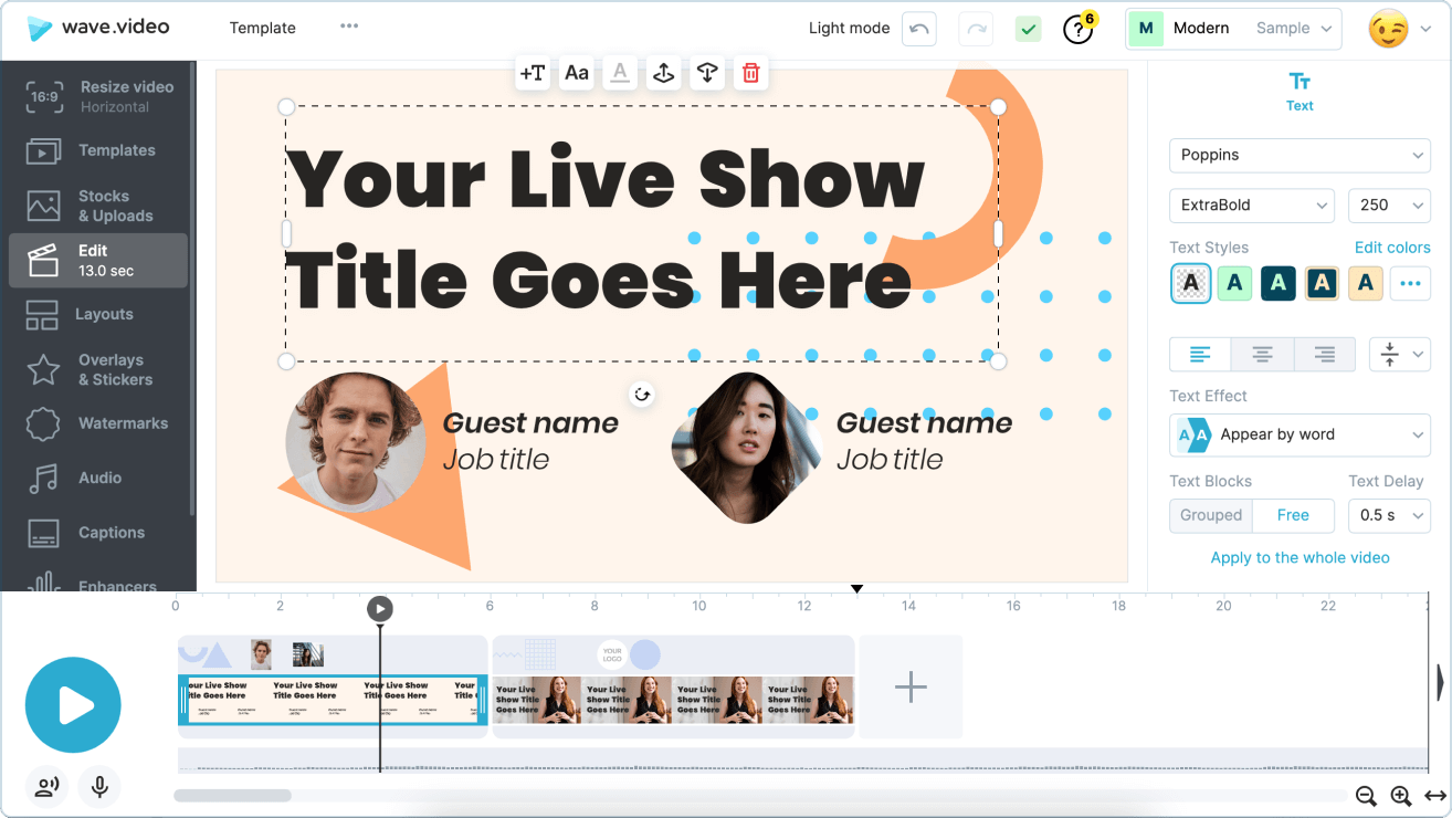 Make your live streams look stylish and professional